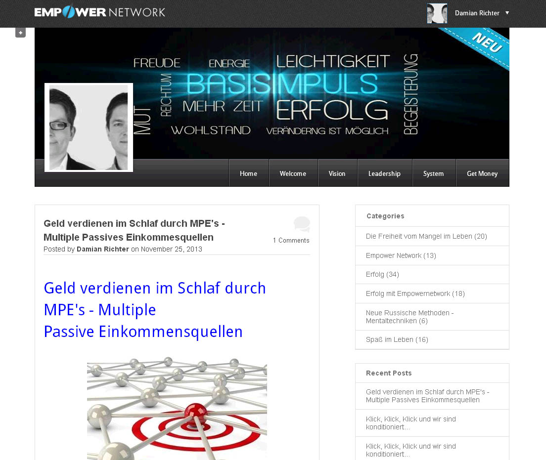 Empower Network - Modernes Blog Desin - Blog von www.basis-impuls.de